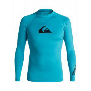 LYCRA QUIKSILVER  ALL TIME LS RASH TANK  2017 NIEBIESKI