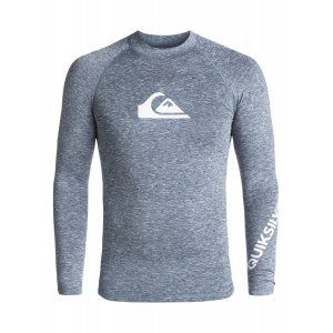LYCRA QUIKSILVER ALL TIME LS RASHGUARD 2018 SZARY