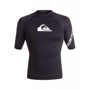 LYCRA QUIKSILVER  ALL TIME SS RASH TANK  2017 CZARNY