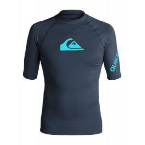 LYCRA QUIKSILVER  ALL TIME SS RASH TANK  2017 GRANATOWY