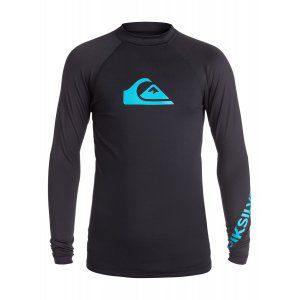 LYCRA QUIKSILVER  BOYS 8-16 ALL TIME LONG SLEEVE RASH TANK  2017 CZARNY