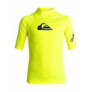 LYCRA QUIKSILVER  BOYS 8-16 ALL TIME SHORT SLEEVE RASH TANK  2017 ŻÓŁTY