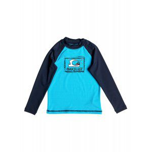 LYCRA QUIKSILVER  BUBBLE DREAM LS RASH VEST  2017 NIEBIESKI