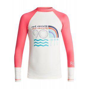 LYCRA ROXY  GIRLS 7-14 SEA BOUND LS  2017 BIAŁY|RÓŻOWY