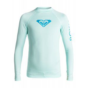 LYCRA ROXY  GIRLS 7-14 WHOLE HEARTED LS  2017 NIEBIESKI