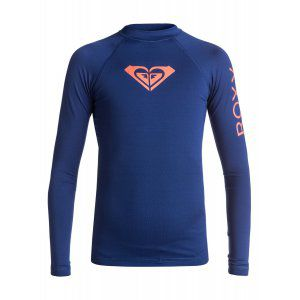LYCRA ROXY  GIRLS 7-14 WHOLE HEARTED LS  2017 GRANATOWY