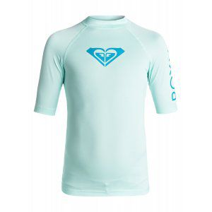 LYCRA ROXY  GIRLS 7-14 WHOLE HEARTED SS  2017 NIEBIESKI