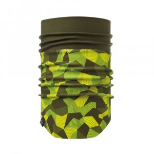 KOMIN BUFF  NECKWARMER WINDPROOF BLOCK CAMO GRE  ZIELONY|SZARY