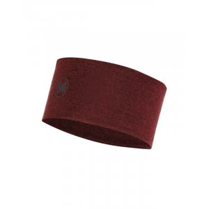 OPASKA BUFF HEADBAND WOOL MID 2L WINE MELANGE BORDOWY