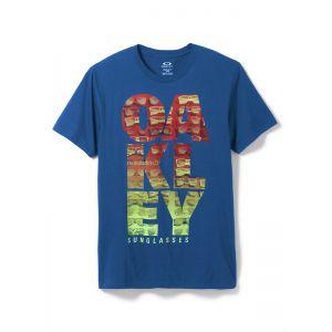T-SHIRT OAKLEY OAKLEY SUNGLASSES TEE 2014 NIEBIESKI