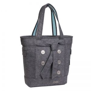 TORBA OGIO  HAMPTONS LIGHT GRAY FELT  SZARY