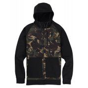 BLUZA BURTON CROWN BONDED FZ SEERSUCKER CAMO|TRUE BLACK 165381-300 4