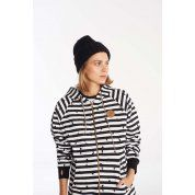 BLUZA FEMI STORIES ZEBRA BLACK STRIPE 1