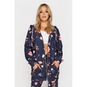 BLUZA JUNGMOB FLOWERS LONG ZIP