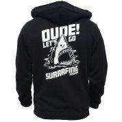 BLUZA JUNGMOB SHARK ZIP BLACK 2