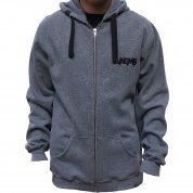 BLUZA JUNGMOB WAVES ZIP GREY 1