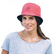 KAPELUSZ BUFF TRAVEL BUCKET HAT COLLAGE RED 2