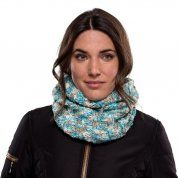 KOMIN BUFF KNITTED & FLEECE NECKWARMER LIVY AQUA NA MODELCE