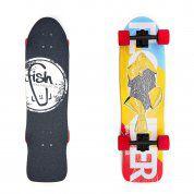 LONGBOARD FISH SKATEBOARDS CRUISER 32 FLOUNDER|BLACK|RED 1