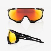 OKULARY 100% SPEEDTRAP SOFT TACT BLACK|HIPER RED 2