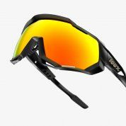 OKULARY 100% SPEEDTRAP SOFT TACT BLACK|HIPER RED 3