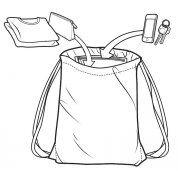 PLECAK BURTON CINCH BAG